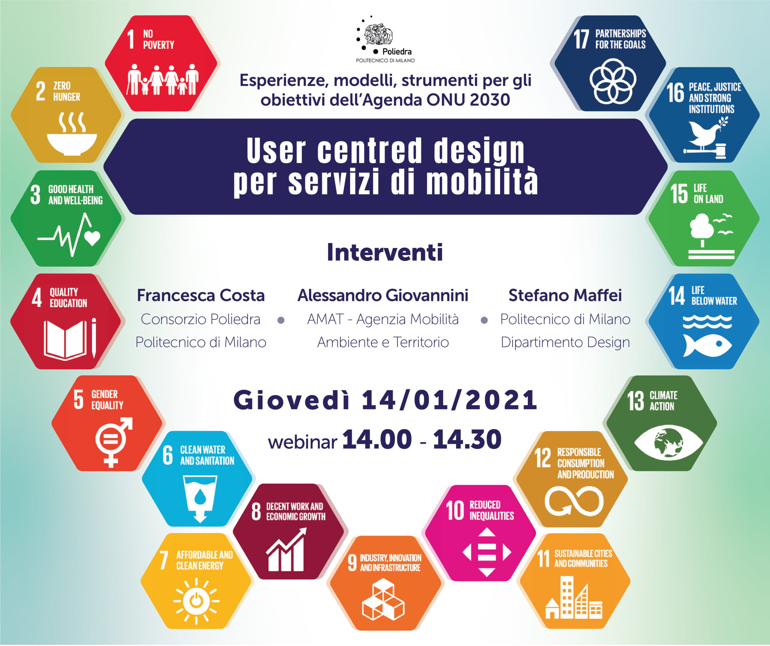 Locandina User Centred Design 14 gennaio
